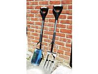 Garden Spade and Fork - Spear and Jackson Stainless Steel e-Series - Very Good Condition