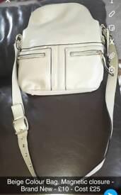 Beige Handbag - Brand New