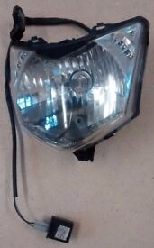 CBF 125 front headlight unit