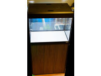 Fluval Roma 90L Aquarium + Zebrano/Black Cabinet + Air Pump + Fluval Filter + Ornaments + Much More