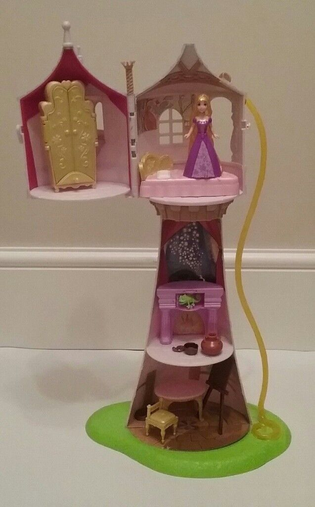 DISNEY TANGLED RAPUNZEL TOWER WUTH FIGURE AND ACCESSORIES