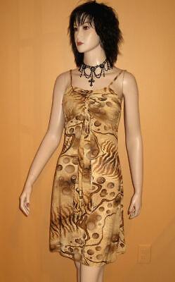 Slinky Mini Dress - SLINKY MINI DRESS Braid Drip Mid GOLD BROWN BLACK 12 14 1x JUNIOR PLUS SIZE XL