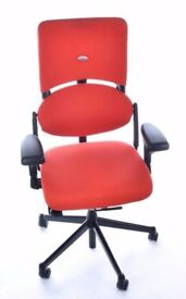 3 - STEELCASE PLEASE - EXECUTIVE TASK CHAIRS / VG CONDITION - FULLY LOADED