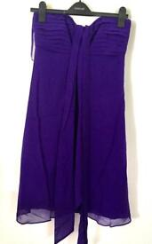 Coast purple strapless dress size 10 perfect for christmas party. Never worn.