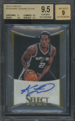 2012 Panini Select #178 Kawhi Leonard 55/199 RC Rookie Gem Mint BGS 9.5 9 Auto