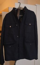 male size:s jack wills wool military jacket with tag