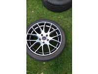 4 Wolfrace Alloy Wheels and Nearly New Tyres to fit BMW E46