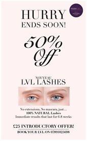 LVL Lash Lift & Tint Introductory Offer! Nouveau trained Lash Specialist, Central London