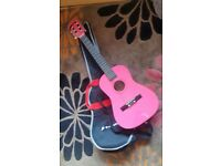 Pink 3/4 guitar