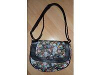 Floral cross-body/shoulder bag