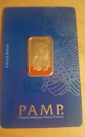 Pamp Suisse 10 Gram Fine Gold Bar - 999.9% pure gold - Sealed