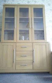 Display Cabinet in Light Oak