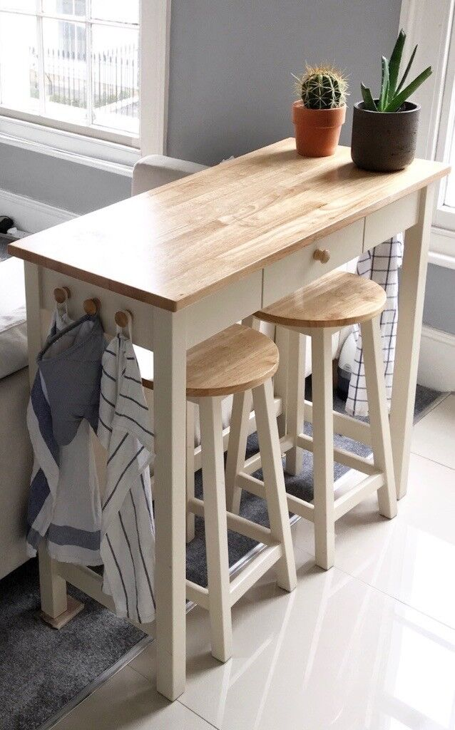 Wooden kitchen Bar Unit with stools   in Notting Hill, London   Gumtree