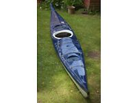 "Sea Kayak for sale,fibreglass 17ft x21"" hatches and bulkheads"