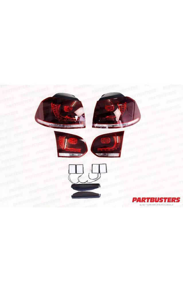 VW GOLF MK6 LED REAR TAIL LIGHTS LAMPS LET PAIR RHD 2009-2013