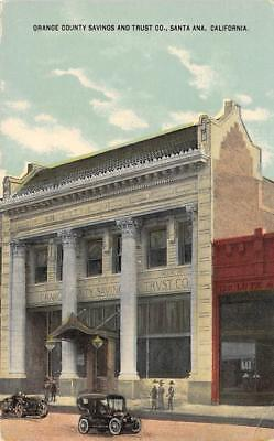 Orange County Savings Trust Co. Ad, Santa Ana, CA WA Zimmerman C1910s Postcard - $4.99