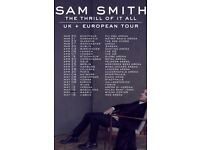 Sam Smith Tickets x2 FlyDSA Sheffield Arena Tuesday 20th March 2018
