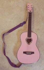 Christmas Giveaway! Candy Rox 3/4 Size Acoustic Guitar - Pink