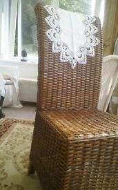 Lovely set chairs for dining room or conservatory