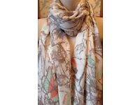 Flower, Bird & Butterfly Print Scarf Wrap by Lola Rose of London NEW
