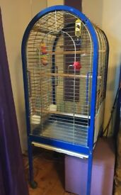 Large parrot cage on wheels