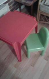 ELC chair and table