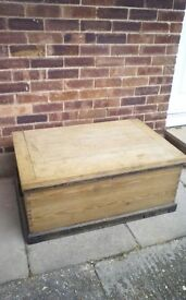 Pine chest/ coffee table