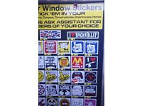 CAR STICKER STAND AND 300+ STICKERS