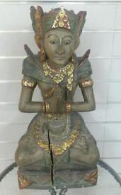 Thai style wooden statue