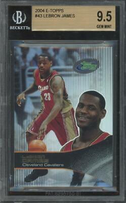 2003 eTopps Topps #43 Lebron James RC Rookie Gem Mint BGS 9.5