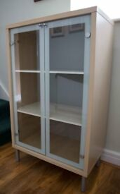 Ikea glass fronted cabinet
