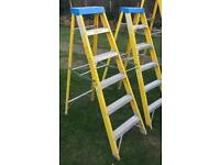 2 pairs Youngman step ladders