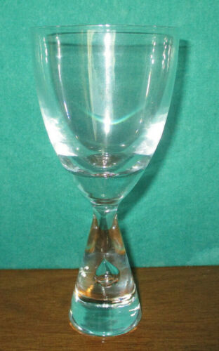 FOUR HOLMEGAARD CRYSTAL PRINCESS RED CLARET WINE SEVERN SGNED MINT FREE SHIPPING