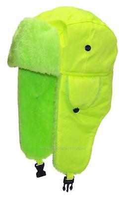 Kids Lightweight Neon Russian/Trooper Faux Fur,Snow,Ski,Winter Hat,#195 Yellow](Kids Russian Hats)