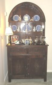 Old Charm Dresser, Dining Room Table and Six Chairs