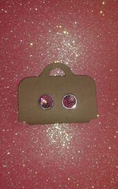 Pink mermaid earrings new