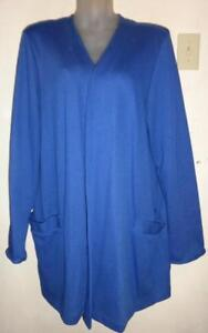 Rare New Weekenders Simply Great 2 (2-3x) Classic Jacket sample blazer Lovely LAPIS BLUE 48 Stretchy cotton & poly 50/50