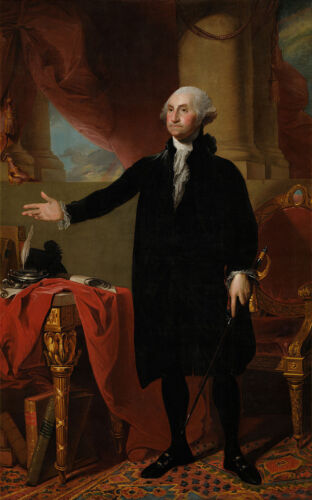 George Washington 1st President Of United States 8.5x11 Portrait Photo