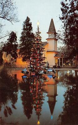 Christmastime, Knott's Berry Farm, Ghost Town Christmas Tree c1950s Postcard ()