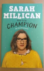 Sarah Millican autobiography How to be Champion brand new unopened