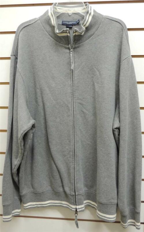NEW Daniel Cremieux Classics Gray Zip Cotton Sweatshirt Jacket XXL 2XL