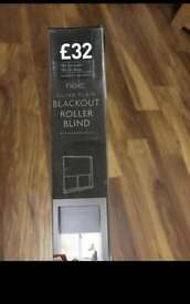 Next silver plain blackout roller blind