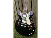 87207d6313d Electric guitar, Harley Benton E-35 BK Vintage Series with tweed hard case
