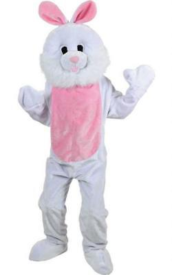 ADULT GIANT BUNNY RABBIT MASCOT COSTUME White Easter Bunny Fancy Dress Outfit - Adult Bunny Outfit