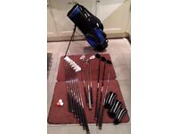 Persimon Right handed full size golf set with golf bag.
