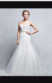 Ivory antique lace wedding dress, size 10