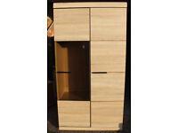 Display cabinet in sonoma oak colour