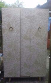 Vintage 2 door melamine wardrobe