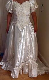Ivory wedding dress, victorian style.