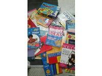 Bundle Educational books and games car boot teacher resources